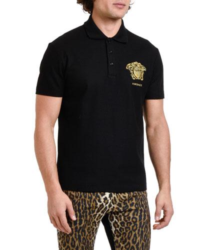 Men's Medusa Pique Polo Shirt