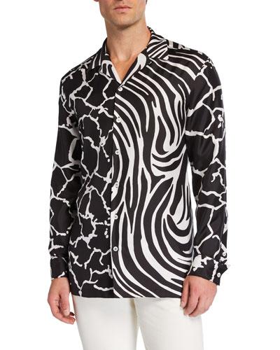 9d5226d282c Fitted Silk Shirt | Neiman Marcus