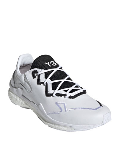 Men's Adizero Leather Running Sneakers w/ Contrast Stitching