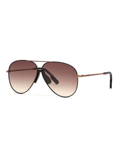 Men's Bronzed Aviator Sunglasses