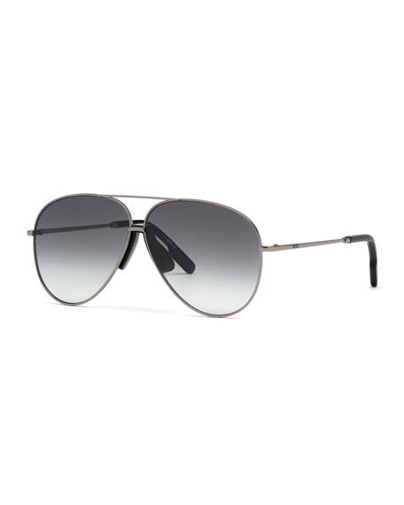 Kenzo Men's Metal Aviator Sunglasses w/ Injected Plastic Trim