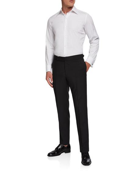 Ermenegildo Zegna Men's Formal Wool/Mohair Dress Pants