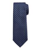 Salvatore Ferragamo Men's Imperij Silk Tie, Blue