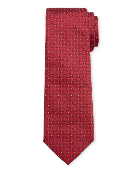 Salvatore Ferragamo Men's Imperij Silk Tie, Red