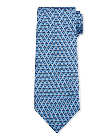 Salvatore Ferragamo Men's Image 2 Silk Tie w/ Shirt & Tie Motif