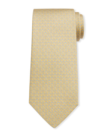 Salvatore Ferragamo Men's Gancini Silk Tie 8