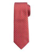 Salvatore Ferragamo Men's Ibiza Silk Sunglasses Tie, Red