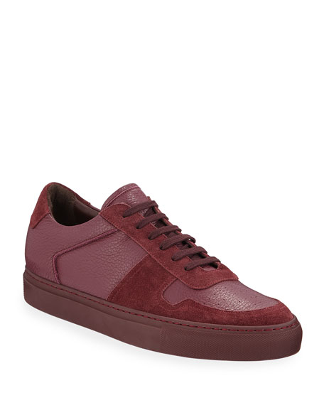 Common Projects Men's BBall Low-Top Leather Sneakers