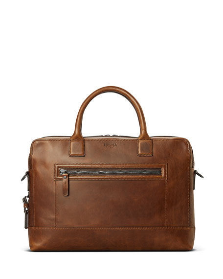 Shinola Men's Bedrock Embossed Harness Briefcase