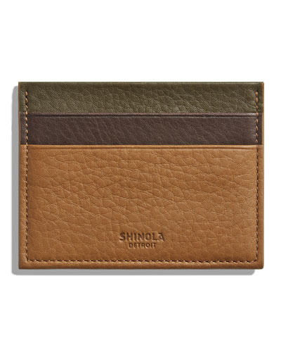 Men's Colorblock Leather Card Case