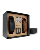 Shinola Men's Guardian Leather Belt Set