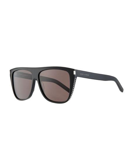 Saint Laurent Men's SL1 Rectangle Acetate Sunglasses