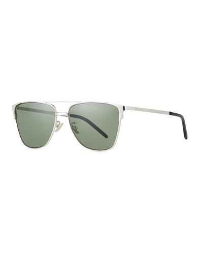 Men's SL 280 Double-Bridge Sunglasses, Silver