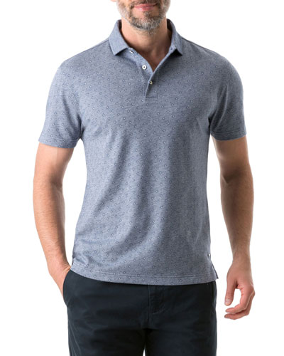 Men's New Haven Patterned Polo Shirt