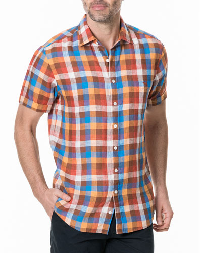 Men's Carrick Plaid-Print Shirt