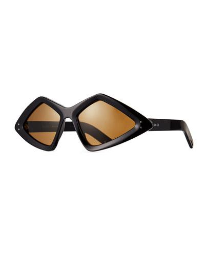 Men's Geometric Acetate Sunglasses