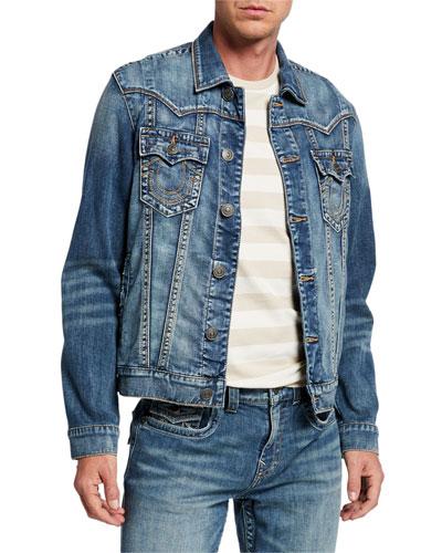 Men's Jimmy Embroidered Denim Jacket