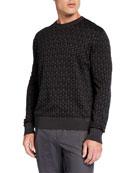 Salvatore Ferragamo Men's Gancini Intarsia-Knit Sweater