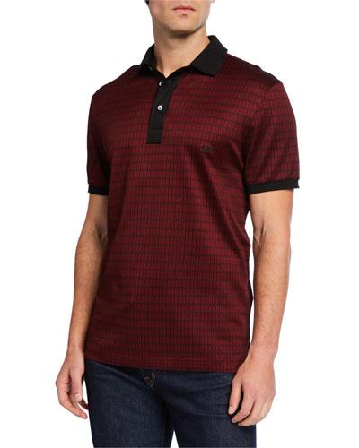 Men's Chevron Retro Polo Shirt