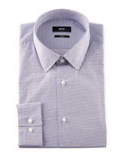 BOSS Men's Slim-Fit Diamond-Pattern Sport Shirt
