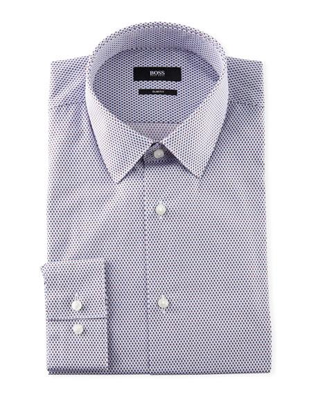 BOSS Men's Slim-Fit Diamond-Pattern Sport Shirt