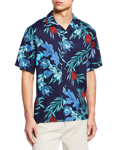 Reyn Spooner Men's Floral-Print Camp Shirt