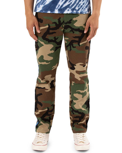 Men's Camouflage Side-Stripe Chino Pants