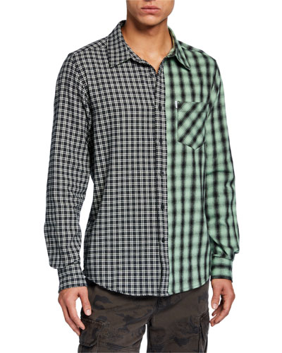 cdfebdb8648852 Quick Look. Ovadia & Sons · Men's Mixed Plaid Long-Sleeve Plaid Shirt