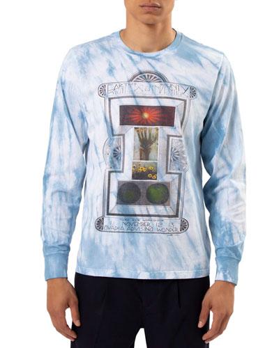 Men's Advising Wonder Long Sleeve Tie Dye T-Shirt