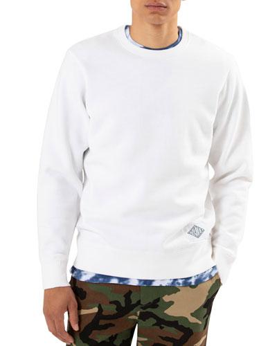 Men's Distressed Crewneck Sweatshirt