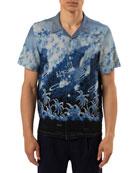 Ovadia Men's Big Wave Short-Sleeve Sport Shirt