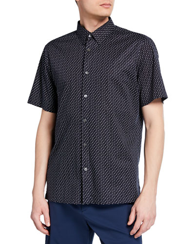 Men's Irving Alder-Print Short-Sleeve Sport Shirt