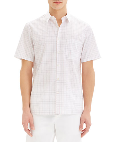 Men's Irving Grid Short-Sleeve Sport Shirt