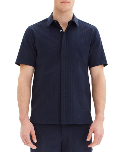 Men's Irving Crushed Seersucker Short-Sleeve Sport Shirt