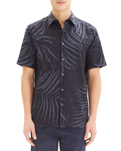 Men's Menlo Saygo Palm-Print Short-Sleeve Sport Shirt