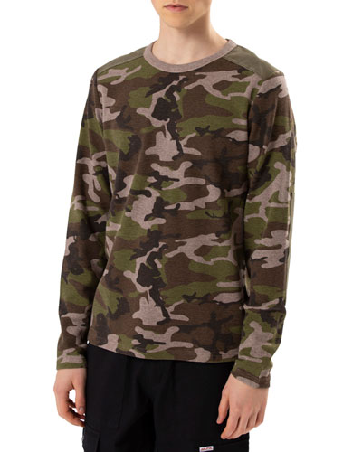 Men's Camo Long-Sleeve T-Shirt