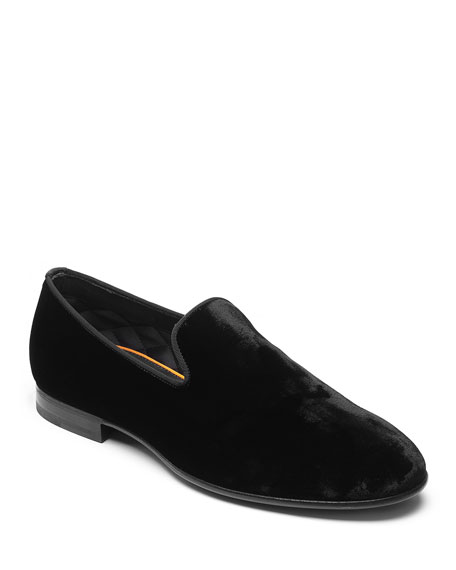 Santoni Men's Logan Velvet Loafers