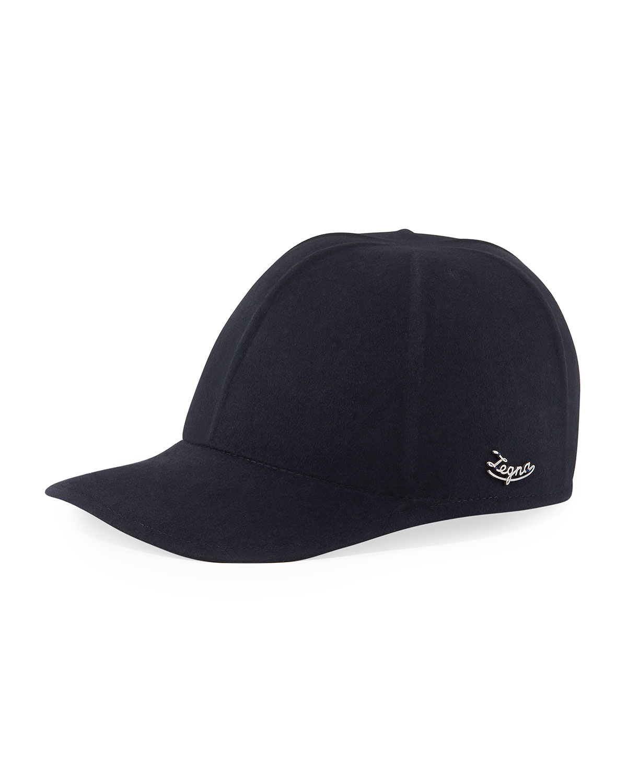 Ermenegildo Zegna Accessories MEN'S SOLID BASEBALL CAP W/ SIDE LOGO