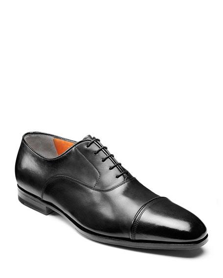 Gareth Brogue Leather Derby Shoes