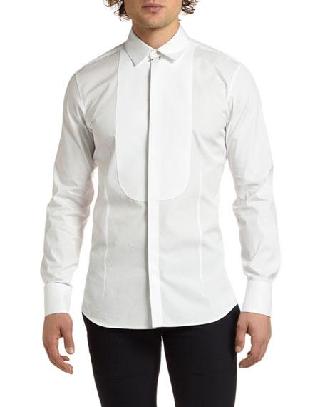 Neil Barrett Men's Tuxedo Shirt with Bib