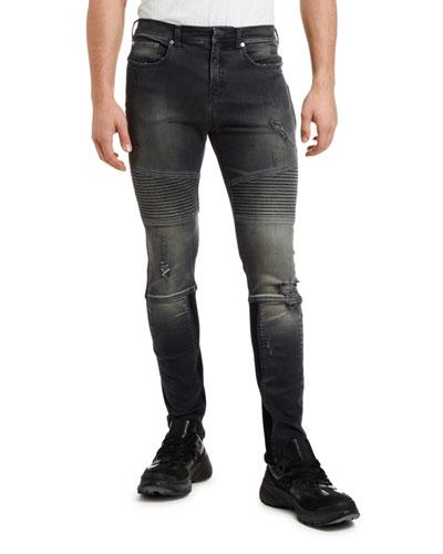 Men's Skinny Biker Jeans
