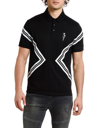 Men's Varsity Striped Polo Shirt