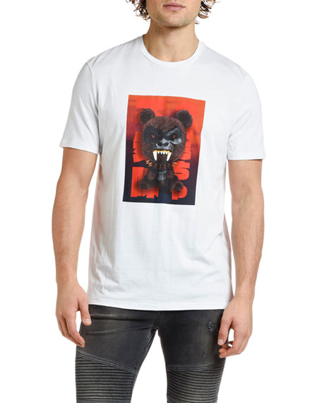 Neil Barrett Men's Fetish Bear Graphic T-Shirt