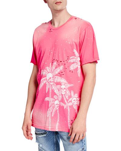 Men's Palm Skulls Graphic T-Shirt