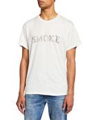 Amiri Men's Smoke Graphic Short-Sleeve T-Shirt