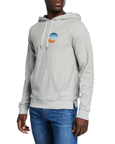Men's Sunset Raglan-Sleeve Pullover Hoodie