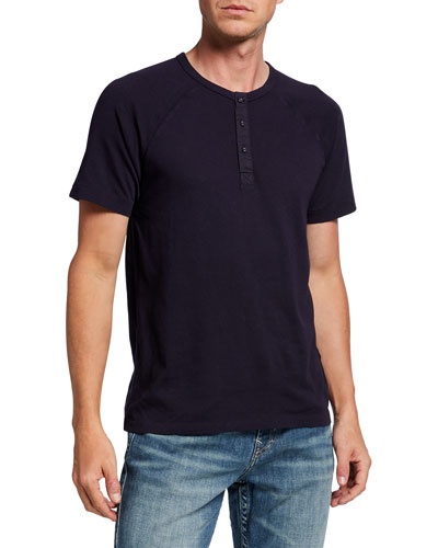 Men's Short-Sleeve Cotton Henley T-Shirt