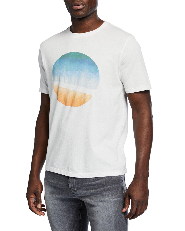 Frame Shorts MEN'S SUNSET GRAPHIC SHORT-SLEEVE COTTON TEE