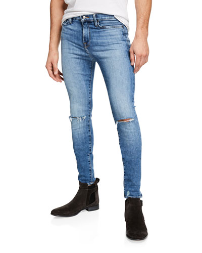 Men's Jagger True Skinny Distressed Knee-Rip Jeans