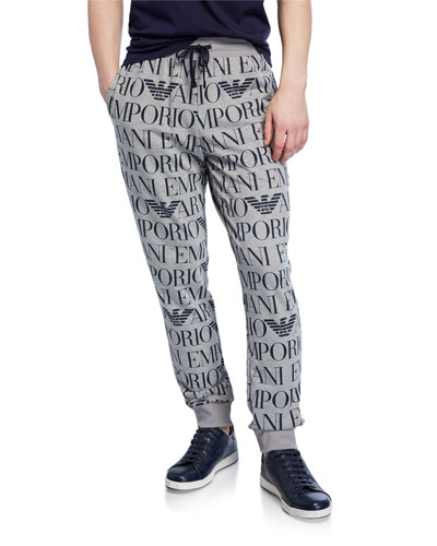 Men's Logo Graphic Drawstring Trousers